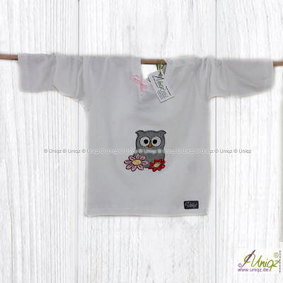 """Baby- T-Shirt mit Eule """"Carina"""", langarm"""