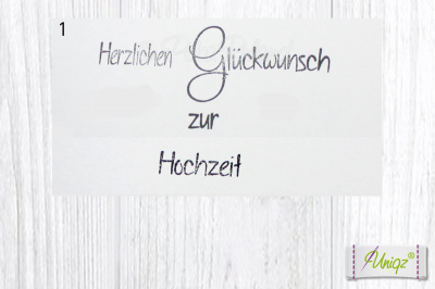 Glückwunschkarte (Silber-/Gold-) Hochzeit Köln mit Initialen, + Geldtütchen