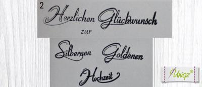 Glückwunschkarte (Silber-/Gold-) Hochzeit mit Ringen und Initialen