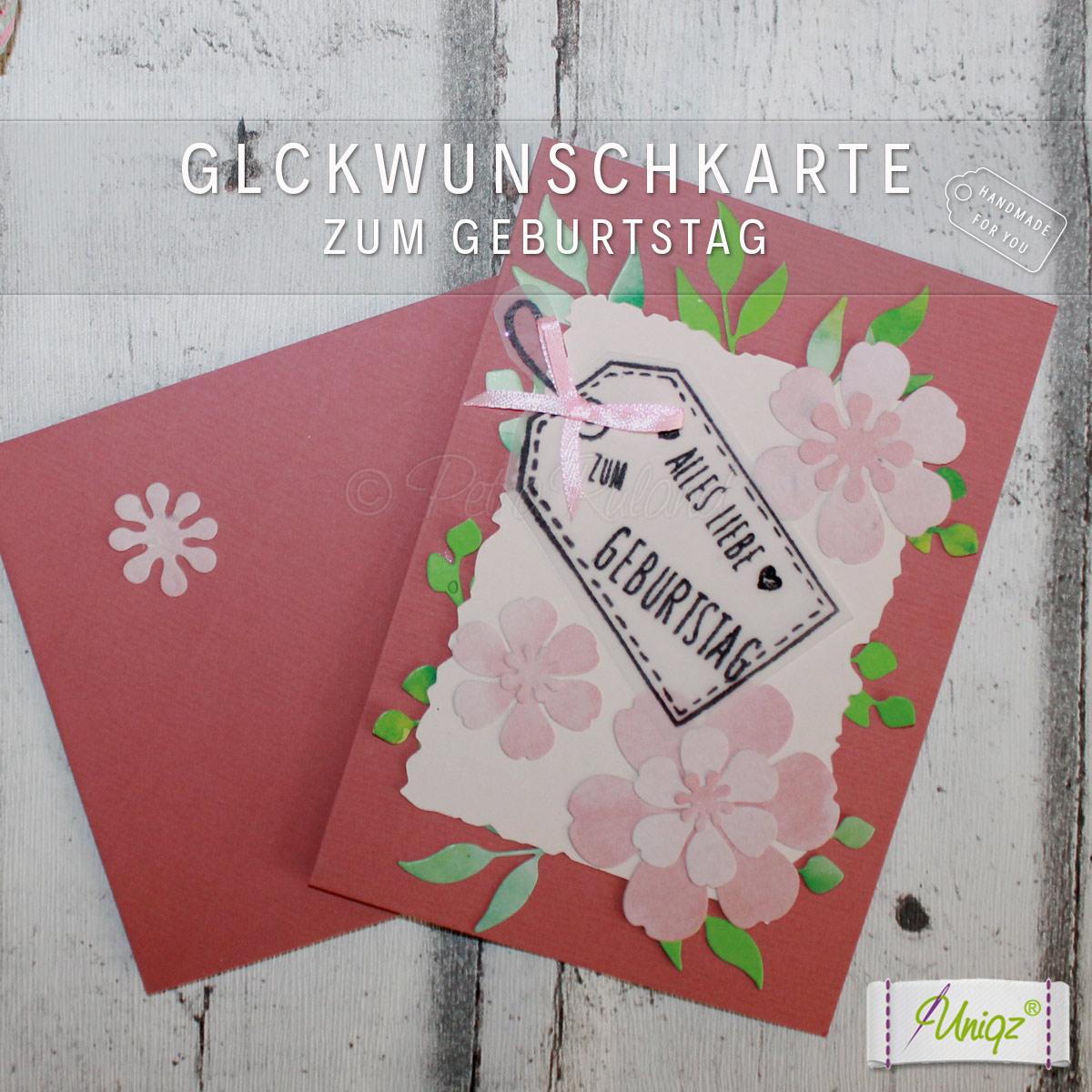 Glückwunschkarte floral