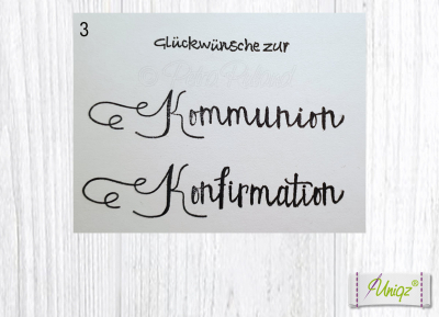Glückwunschkarte Kommunion - Konfirmation - Firmung mit Kreuz