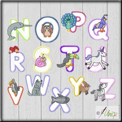 Baby- und Kinderdecke mit Tierbuchstaben