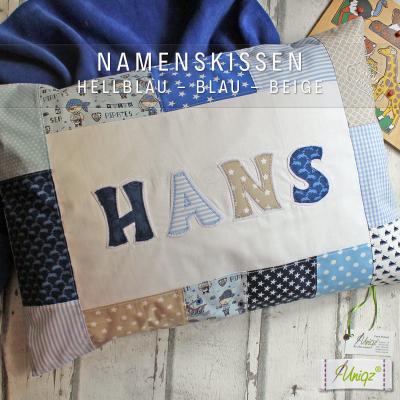 Namenskissen mit großen Buchstaben