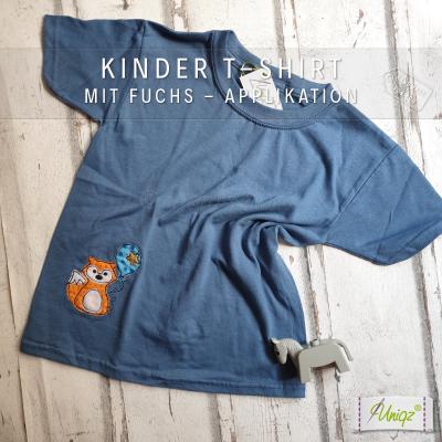 Reduziert: Kinder T-Shirt mit Fuchs, Gr. XS/5-6 Jahre